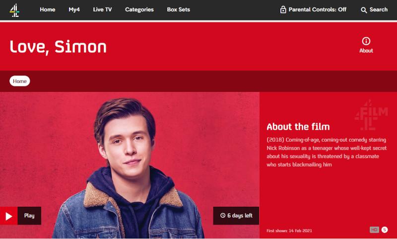 Love, Simon on All 4