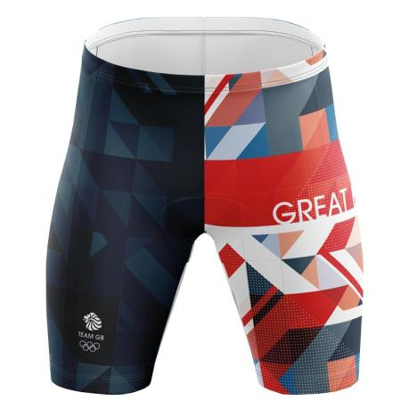 Team GB Men's Swimming Jammers - Front