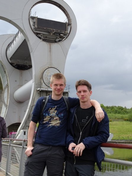 Nick and myself at the Falkirk Wheel