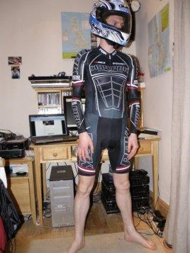 PBK Team Long Sleeve Skinsuit + HJC ZF-10 Karlie helmet