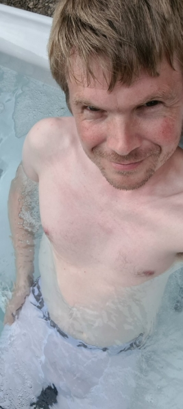 First time in a hot tub