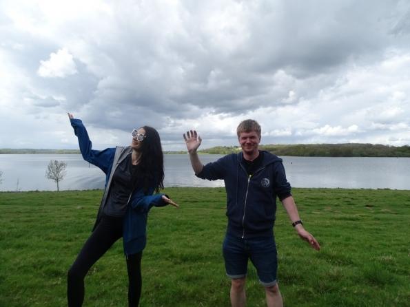 Walking around Rutland Water with Emilie