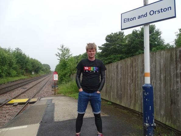 Wetsuit fun at railway station