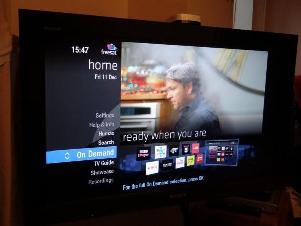 Freesat Freetime home menu, On Demand
