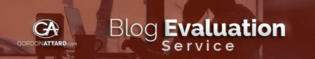 Gordon Attard Blog Evaluation Service