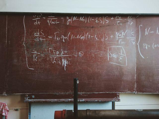 math equation on chalk board