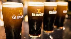Glasses of Guinness