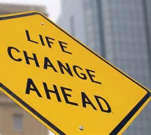 life change ahead road sign