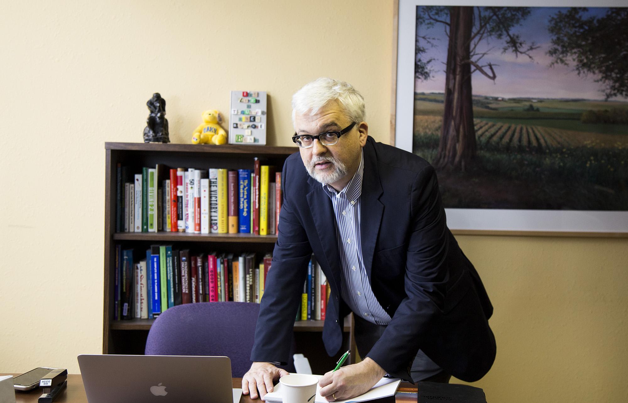 Gordon Fischer at desk