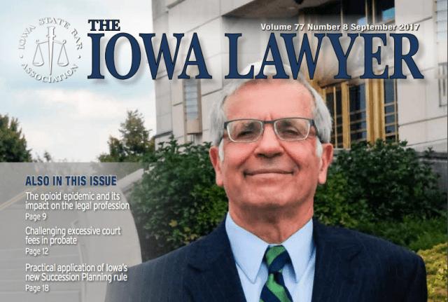 Iowa Lawyer front of magazine