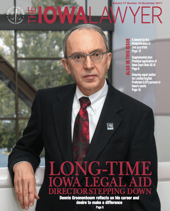 The Iowa Lawyer magazine cover November 2017