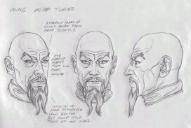 Ming head turn illustration by Alex Ross