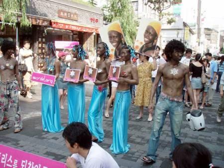 Korean Raelians in Blackface