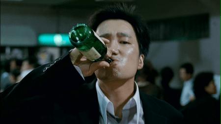 The Host soju guzzling