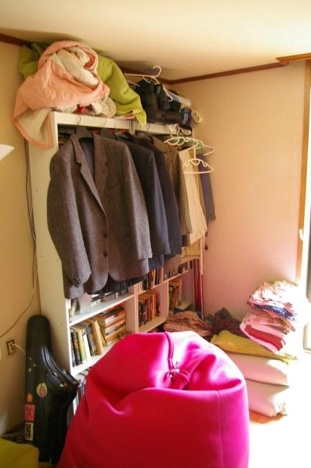 Living Room Bookshelf Closet