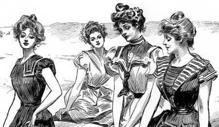 """The corset, the heaving bosom: the crippling clothing women were expected to wear when being a Gibson Girl was the """"in"""" thing."""