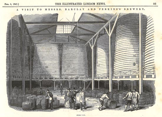"""The Great Vats of Barclay Perkins."" Not everyone was scared off from big vats, apparently."