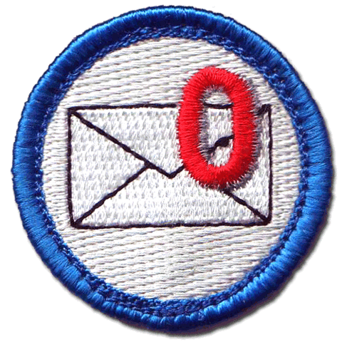 Certainly, they've run out of Inbox Zero merit badges by now...