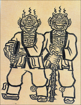 A pair of tokkaebi, like those in the folk story mentioned above. he picture is from an article with a little more information on the creatures: click the image to see the source and read more.