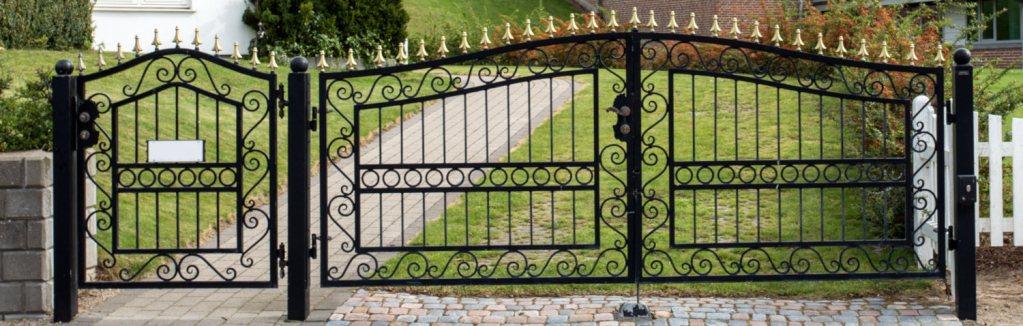 Large Black Driveway Gate