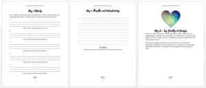 Printable self love workbook