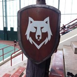custom printed shield cover pd wolf image