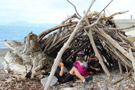 get inspired bike kids Nelson Kaiteriteri New Zealand Great Taste Cycle beach fun goRide