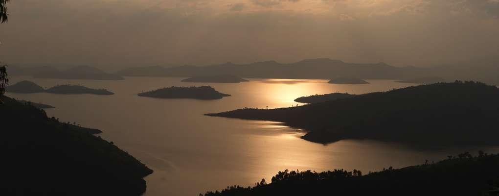 Sunset over Lake Kivu, Rwanda