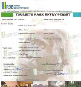 How to book Rwanda gorilla permits, buy a 2018 Gorilla Trek permits, get gorilla tracking permit for Rwanda for 2018 gorilla trek tours and gorilla safaris.