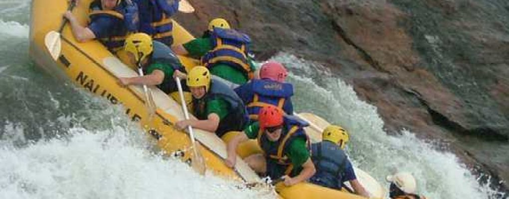 Whitewater rafting the Nile, Uganda