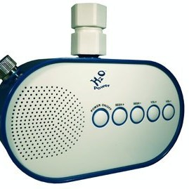 Water (H2O) Shower Powered Radio