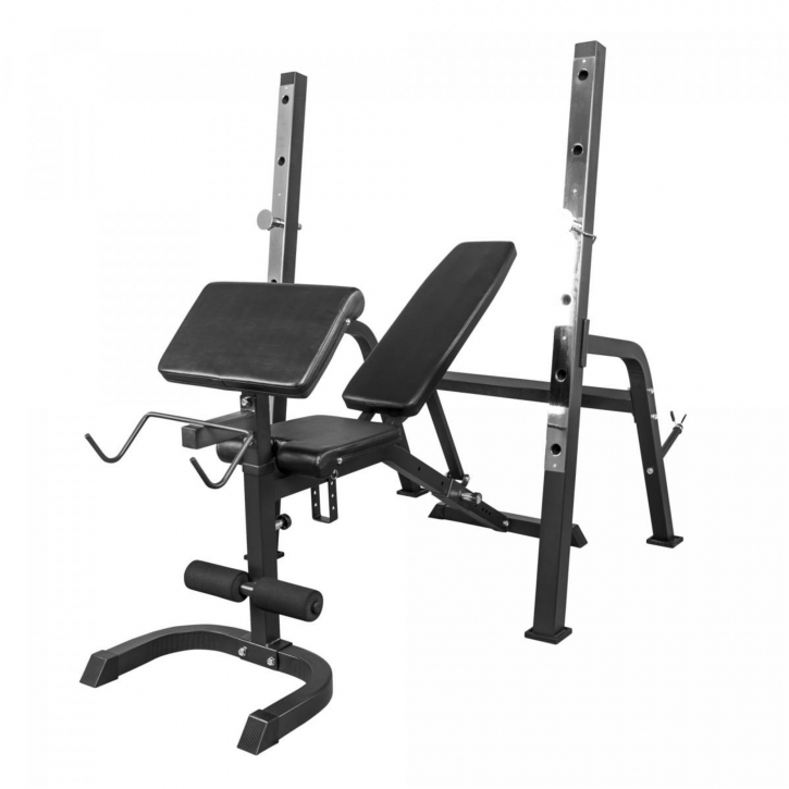 weight bench with separate weight rack black