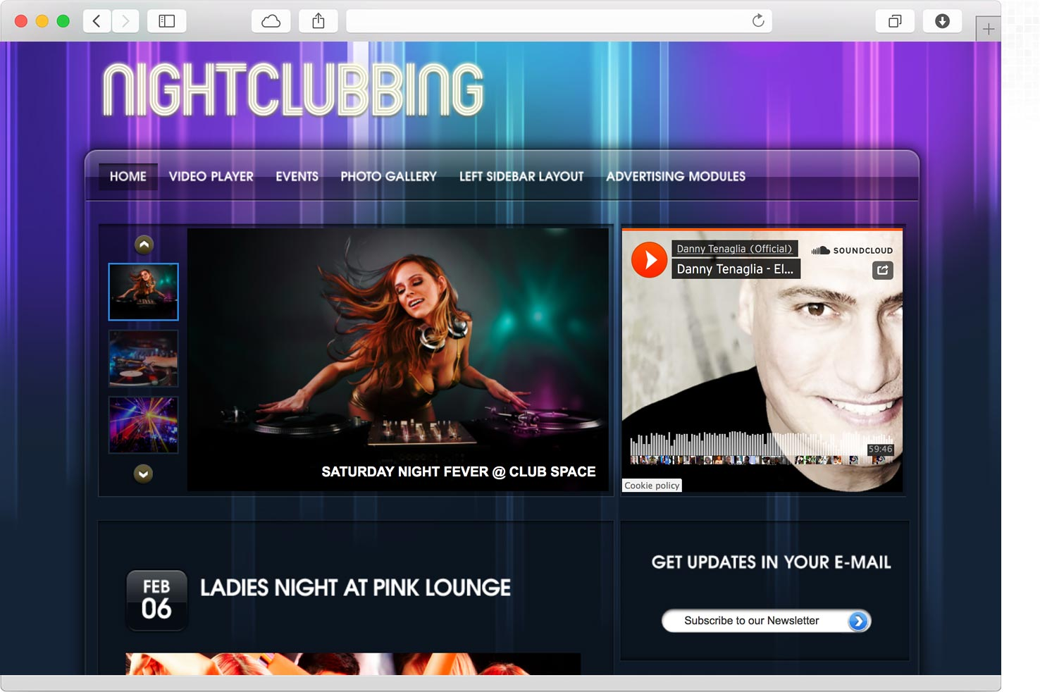 WordPress Nightclub Theme