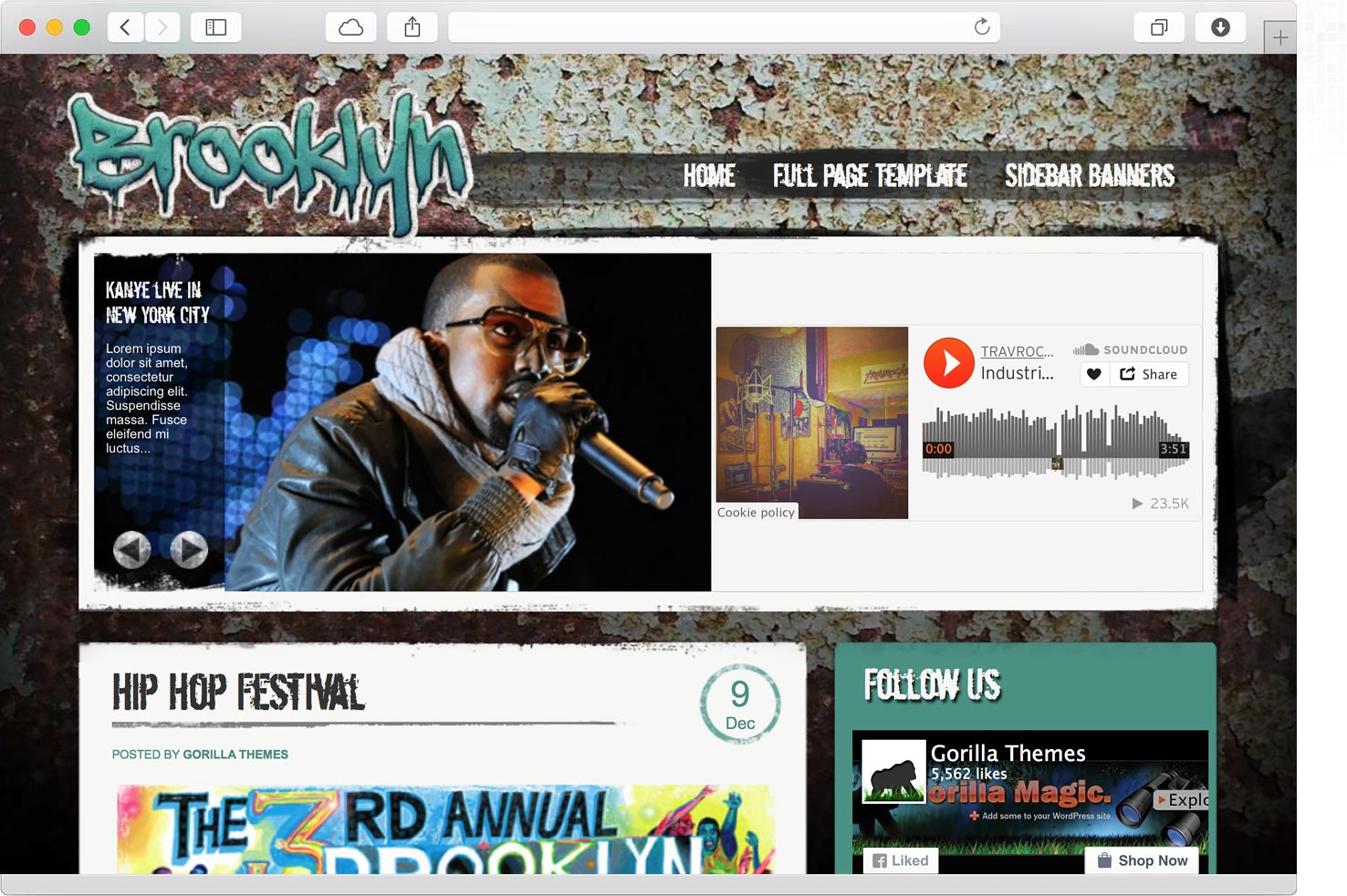 WordPress Brooklyn Music Theme