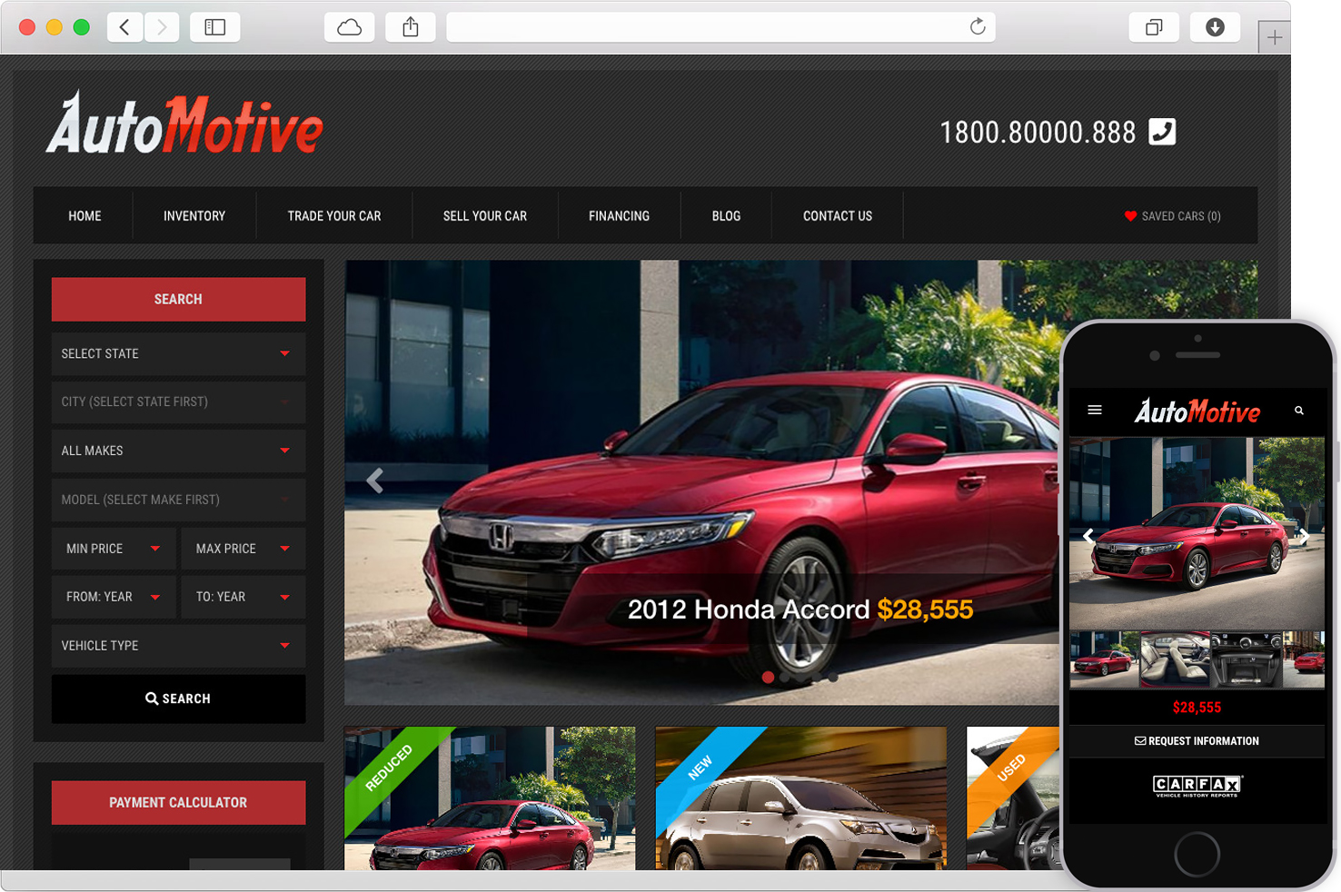 WordPress Car Dealer Automotive Theme