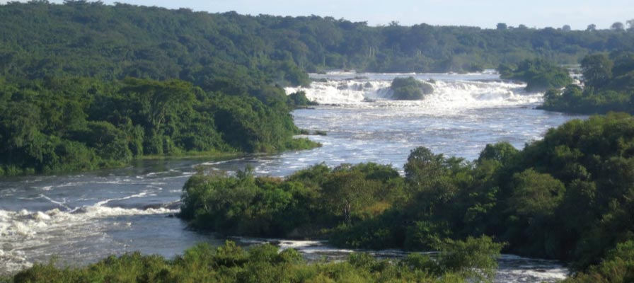 Karuma Falls on the nile Uganda