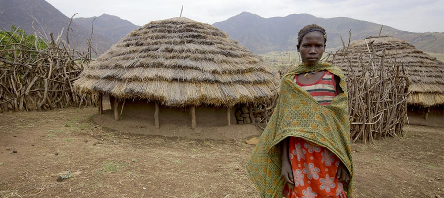 cultural village in Kidepo Valley on a savannah safari in Uganda