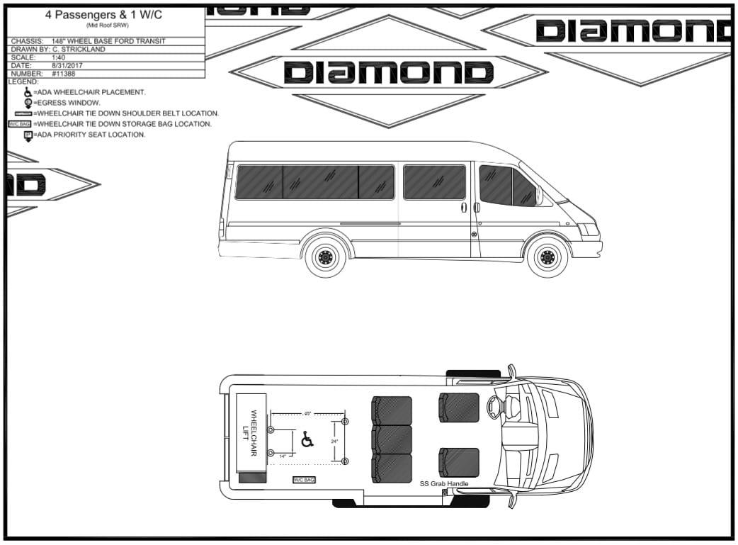 Diamond Coach Ford Transit Wheelchair Van For