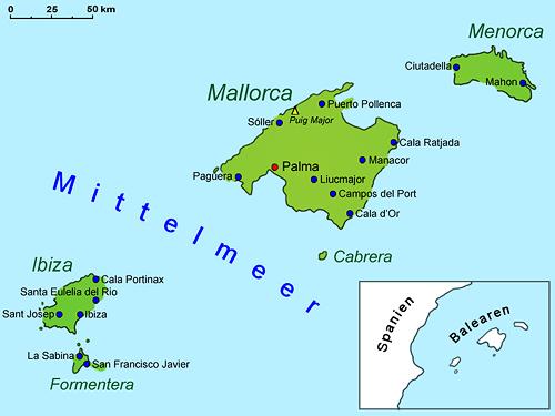 balearen geografie landkarte lander
