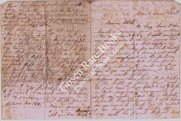 5 Civil War Letters - 1862 - 1864