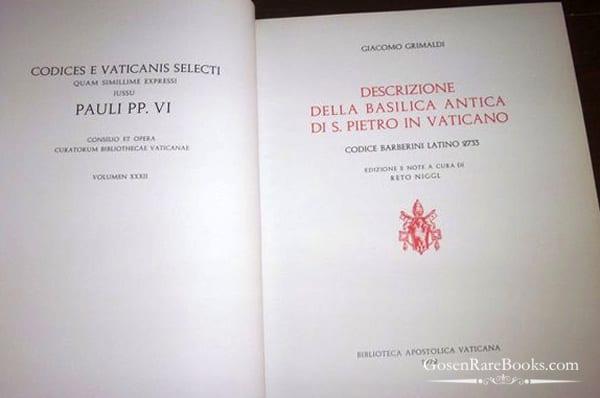 Biblioteca Apostolica Vaticana - 1972