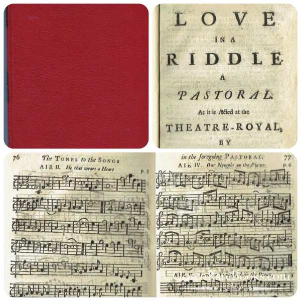 Cibber, Colley-Love in a Riddle-GosenRareBooks