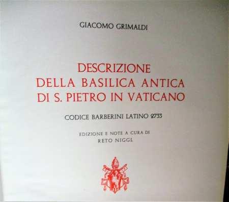 """Title page: Giacomo Grimaldi, """"Descrizione della basilica antica di S. Pietro in Vaticano"""