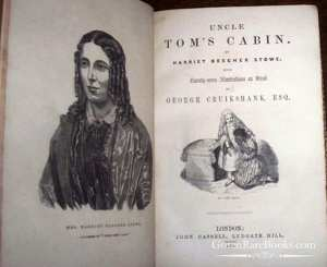 Harriet Beecher Stowe - Uncle Tom's Cabin with 27 Illustrations on Wood - 1852