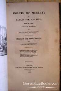 Westmacott, Charles - Points of Misery or Fables For Mankind - 1823