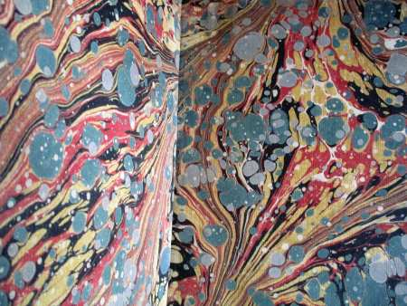 Eighteenth century English endpapers.