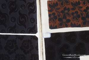 Black Silk Rep Swatch Book Lyon 1835