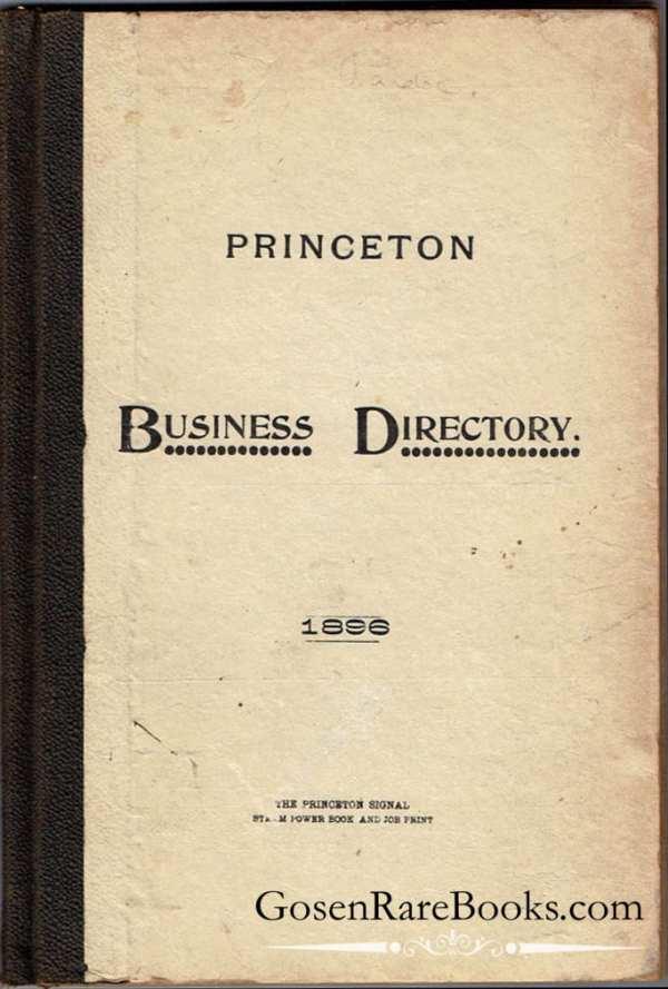 Princeton Business Directory - 1896