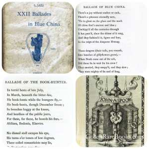 XXII Ballades in Blue China 1880 John Spoor's Bookplate