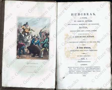 Samuel Butler's HUDIBRAS Illustrated - 1822
